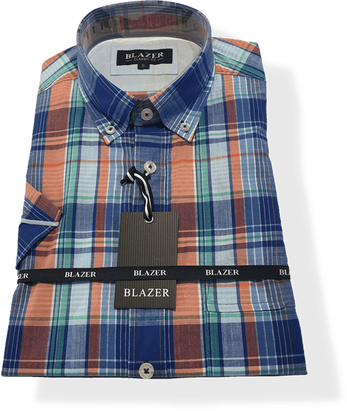 Blazer Multi Arlo Check S/S Shirt - Harry's for Menswear