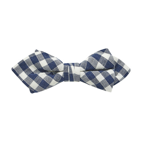 Buckle Plaid Bow Tie-Navy - Harry's for Menswear