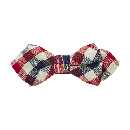 Buckle Plaid Bow Tie-Red - Harry's for Menswear