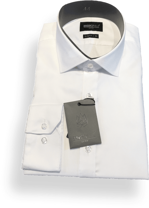 Brooksfield Luxe Business Shirt-BFC1195-Cream - Harry's for Menswear