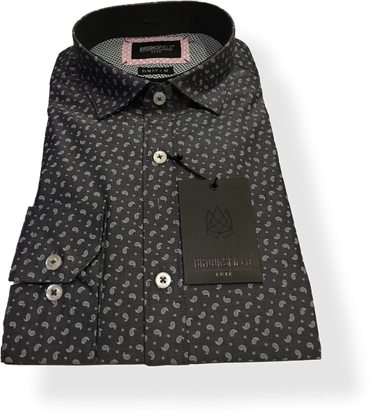 Brooksfield Luxe Paisley Print Slim Fit BFC1358 - Harry's for Menswear