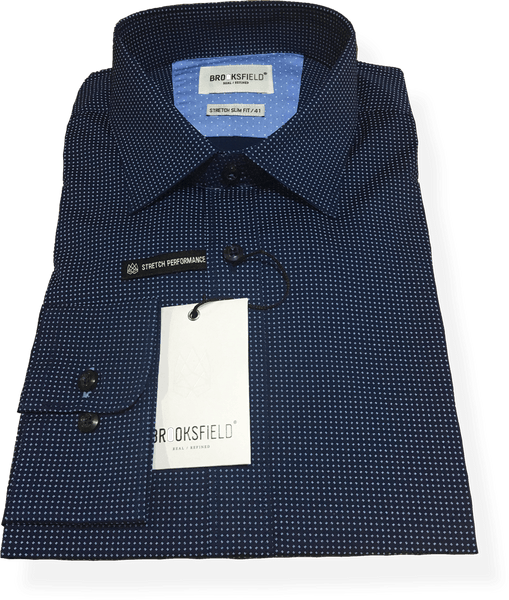 Brooksfield Luxe Business Shirt BFC1470NVY - Harry's for Menswear