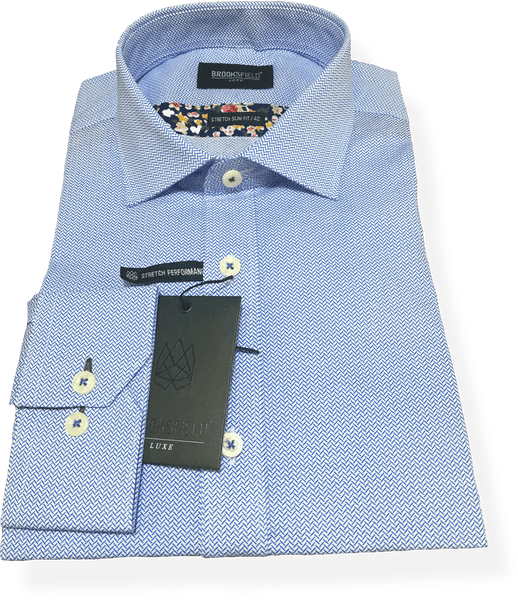 Brooksfield Luxe Business Shirt BFC1488-BLU - Harry's for Menswear