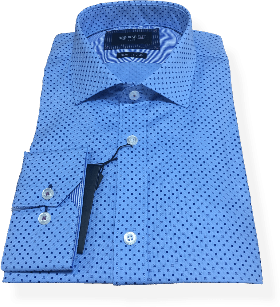 Brooksfield Luxe Business Shirt BFC1498-LTB - Harry's for Menswear