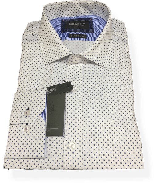 Brooksfield Luxe Business Shirt BFC1498-WTE - Harry's for Menswear