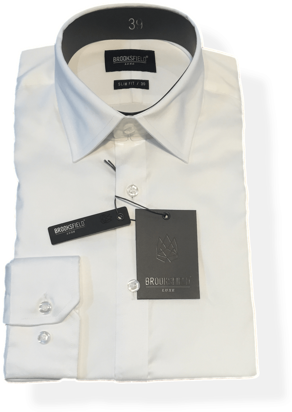 Brooksfield Luxe Business Shirt BFC939-White - Harry's for Menswear