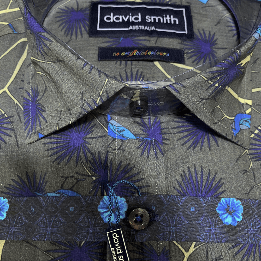 David Smith Shirt DS2906C-Indigo