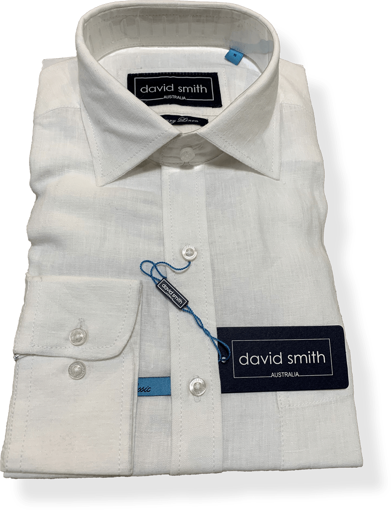 David Smith White Linen DS2953- L/S