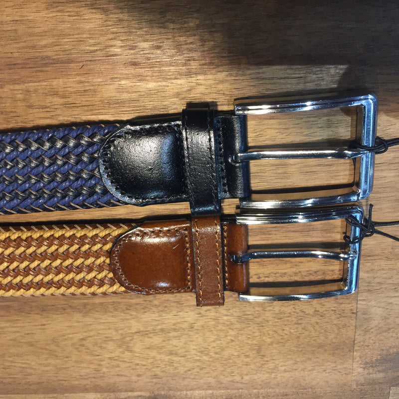 Buckle  Daytona Plaited Belt- Brw/Navy - Harry's for Menswear