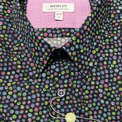 Berlin Multi Colour L/S shirt at Harry's for Menswear
