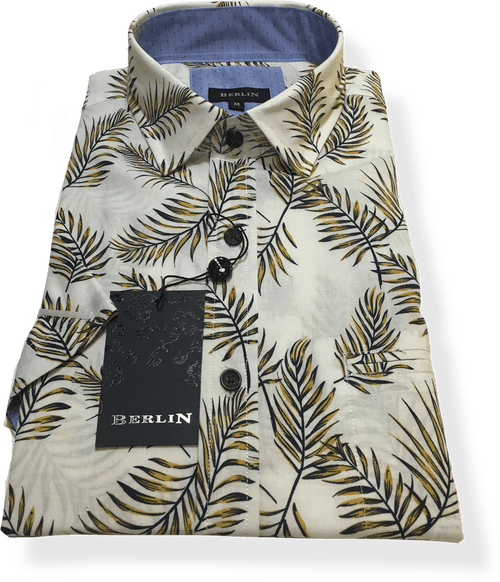 Berlin S/S Shirt S404-Yellow - Harry's for Menswear