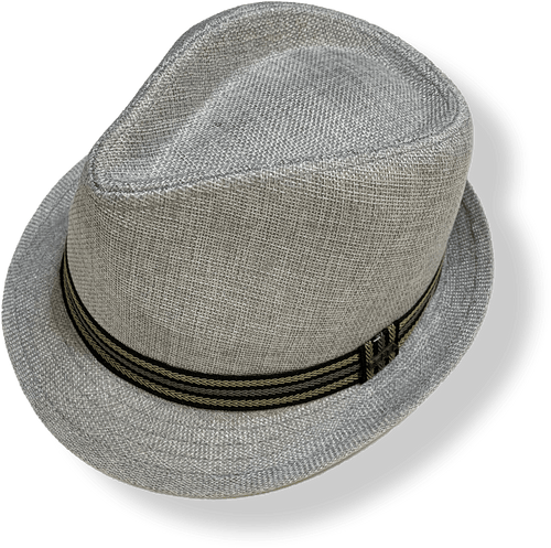 Polyester Trilby Hat-SM519-Gry