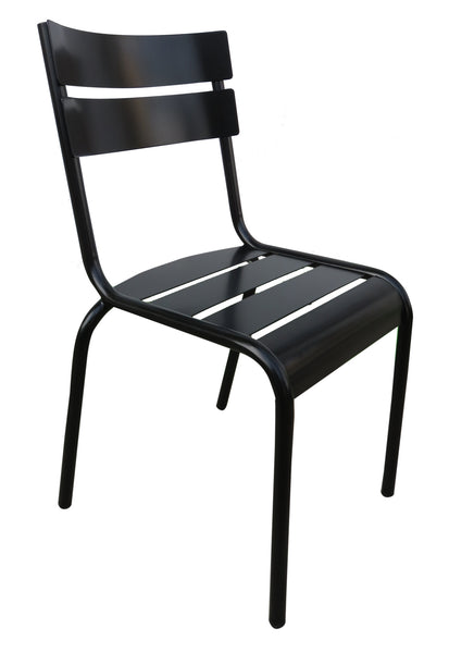 French Bistro Café Chair w/Steel Slats on Back & Seat from EventsUber (set of 2)