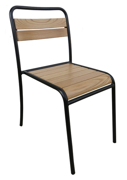 Café French Bistro Chair w/Chestnut Natural Finish Slats from EventsUber (set of 2)