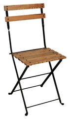 Café Bistro French Folding Side Chair w/European Chestnut Slats from EventsUber.com (set of 2)