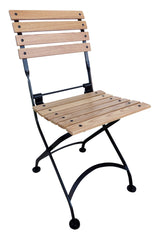 French Bistro Chair folding with European Chesnut Wood Slats from EventsUber.com (set of 2)