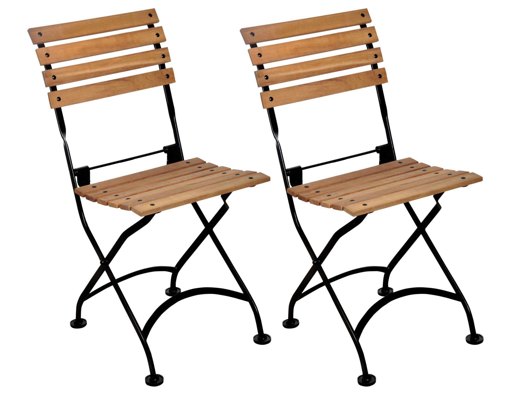 Charming ... French Bistro Chair Folding With Teak Wood Slats From EventsUber.com  (set Of 2 ...