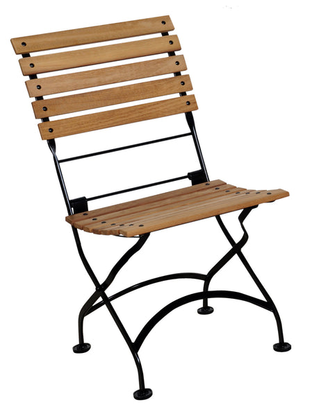 Café Bistro French Folding Side Chair with Teak Slats from EventsUber.com (set of 2)