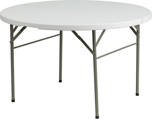 48'' Round Bi-Fold Granite Plastic Folding Table