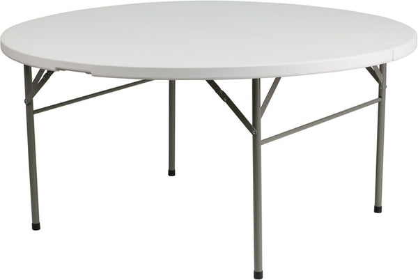 60'' Round Bi-Fold Granite Plastic Folding Table