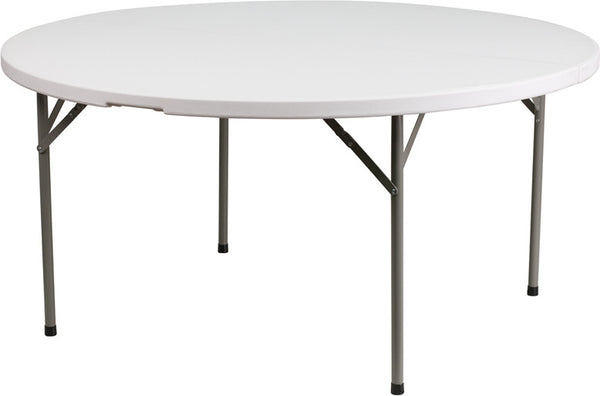 60'' Round Granite Plastic Folding Table Commercial Grade