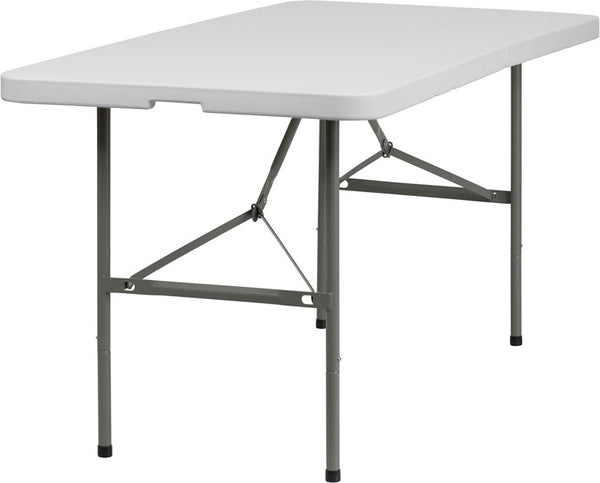 30''W x 60''L Bi-Fold Granite Plastic Folding Table