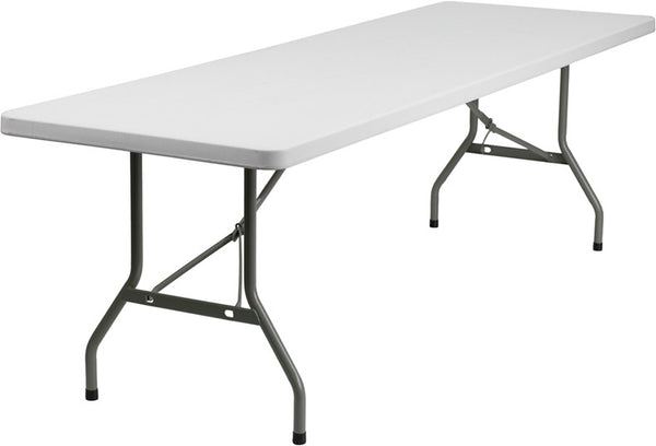30''W x 96''L Granite  Plastic Folding Table Professional Grade