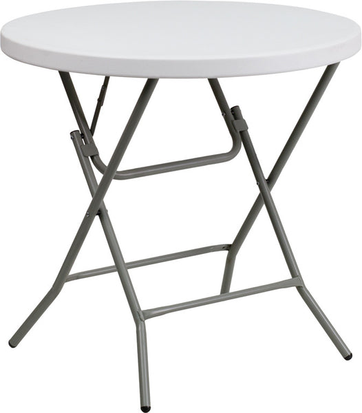 32'' Round Granite Plastic Folding Table Professional Grade