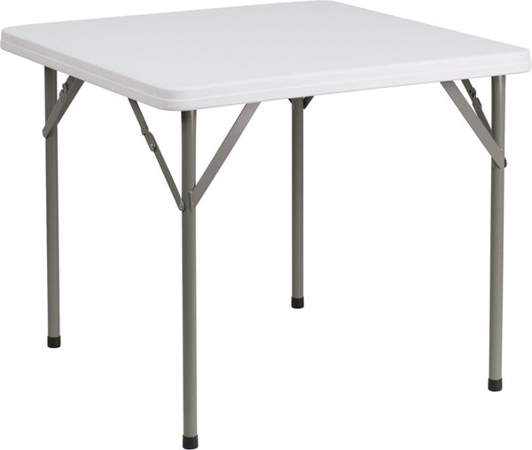 34'' Square Granite Plastic Folding Table
