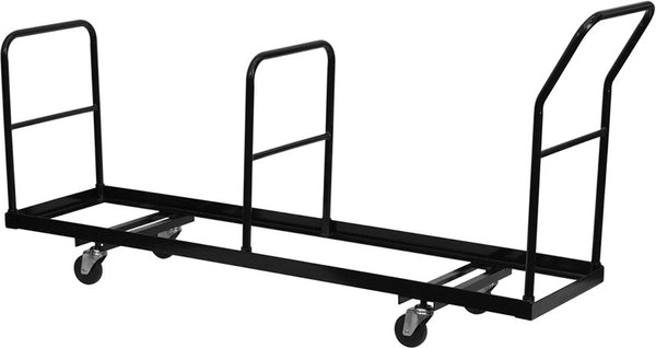 Vertical Storage Folding Chair Dolly - 35 Chair Capacity