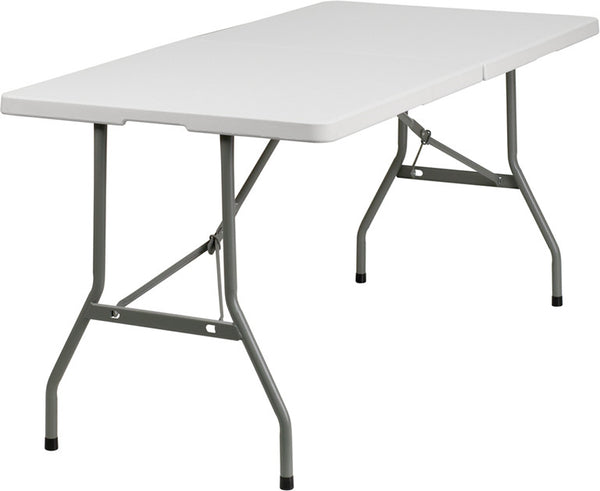 30''W x 60''L Bi-Fold Plastic Folding Table