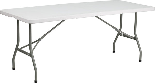 30''W x 72''L Bi-Fold Granite Plastic Folding Table
