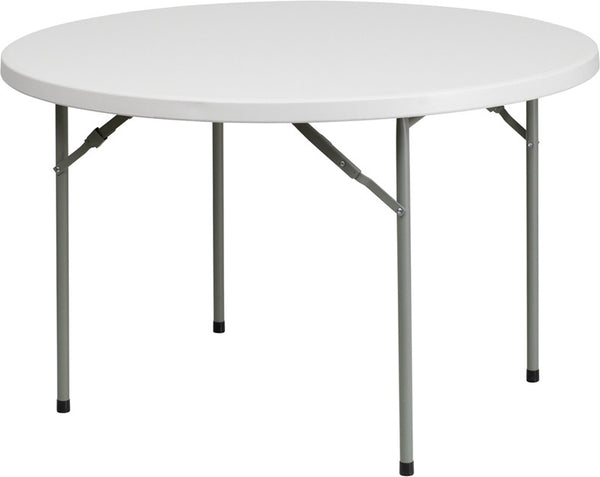 48'' Round Granite Plastic Folding Table Commercial Grade