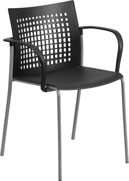 551 lb. Capacity  Stack Chair w/Air-Vent Back and Arms