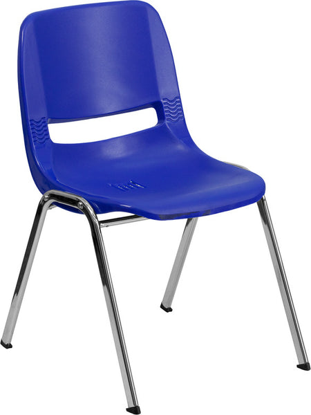 440 lb. Capacity  Ergonomic Shell Stack Chair w/ 12'' Seat Height