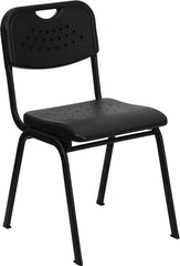 880 lb. Capacity  Plastic Stack Chair w/ Frame