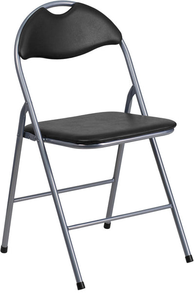 Vinyl Metal Folding Chair w/Carrying Handle