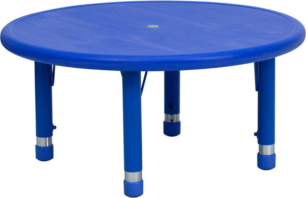 33'' Round Height Adjustable Plastic Activity Table