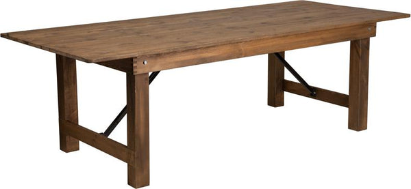 Rustic Folding Farm Table 8'x40