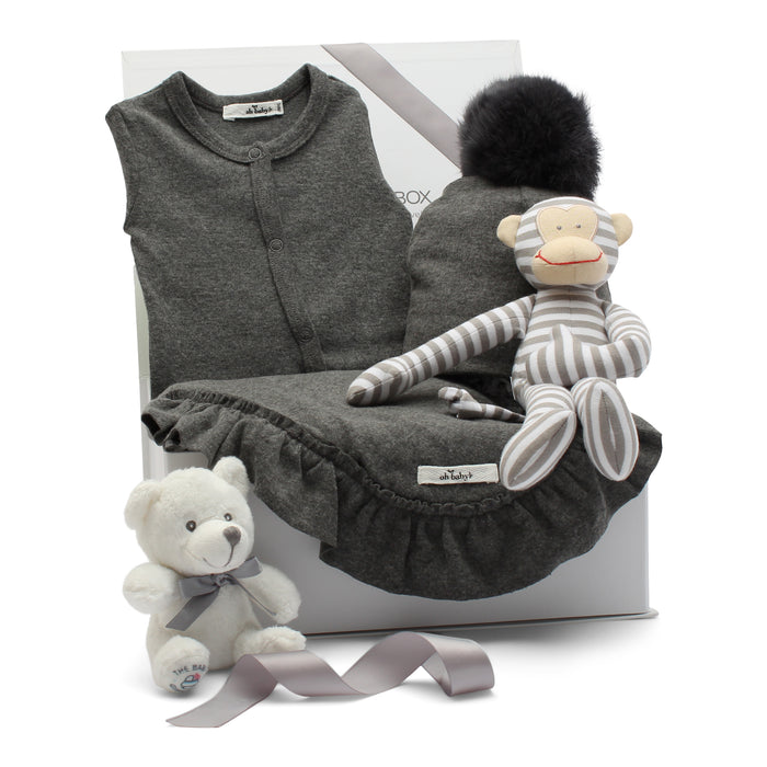 AW19 Baby Gift Set | Monkey'n Around | Grey