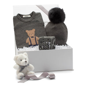 AW19 Baby Gift Set | Mr. Bear  | Grey