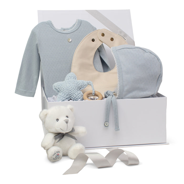 Baby Boy Gift Set | Pointelle Pretty | Baby Blue | SS21