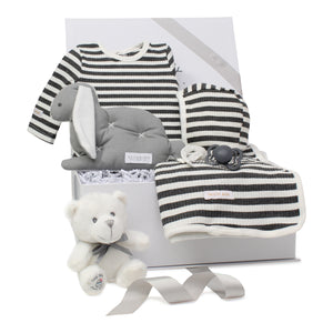 Baby Boy Gift Set | Striped Delight | Charcoal |  SS21