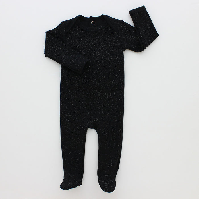Baby Footie + Bonnet | Hatch'd | Sparkle Rib | Black