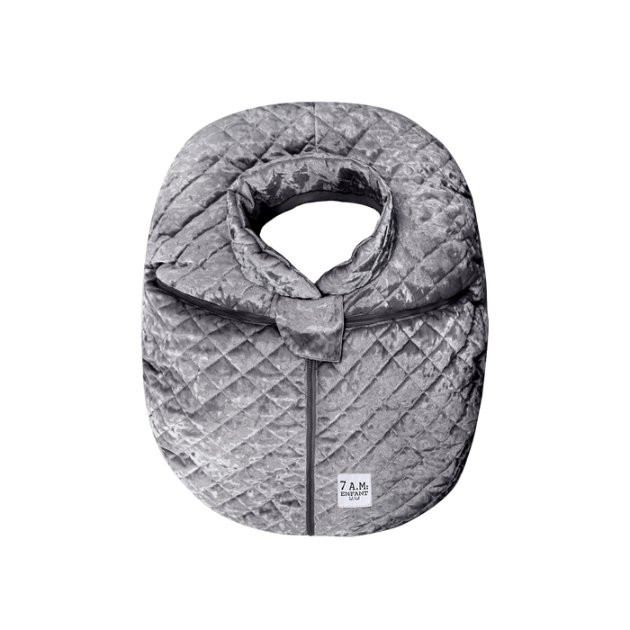 7AM | Car Seat Cocoon | Grey Velvet