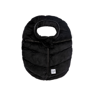 7AM | Car Seat Cocoon | Black Velour