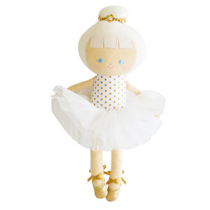 Baby Girl Doll | Gold Dot Ballerina | Alimrose