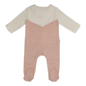 Baby Footie | P&P | Color Block - Pink