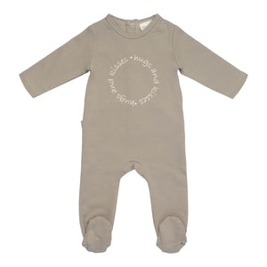 Baby Footie & Hat | P&P | Hugs & Kisses | Grey