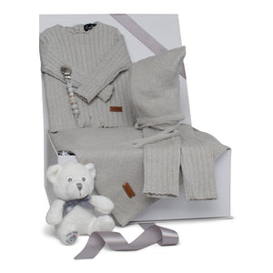 Baby Boy Gift Set | Luxury Lurex | Silver